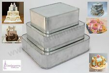 "Wedding Suitcase Cake Baking Tins - 3"" Deep - 3 Tier ( 8 10 12 "")"