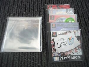 x20 PLAYSTATION 1/PS1 GAME CASE   PROTECTOR SLEEVES.PROTECT/DISPLAY YOUR CASES