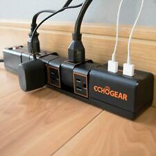 Echogear Rotating Surge Protector Power Strip with 2 USB Ports & 6 Rotating