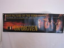 "VERY RARE! Unforgiven-1992-Movie Banner- ""BEST PICTURE OF THE YEAR""- 4 OSCARS!"