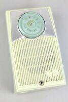 VINTAGE RCA VICTOR PORTABLE TRASISTOR AM RADIO - Art Deco BLUE GREEN
