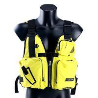 Aid Sailing Kayak Fishing Life Jacket Vest Boat - D13 -Yellow Adjustable Size