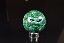 Polished Malachite Sphere with Vug from Congo   5.7 cm  # 4499