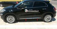 MODANATURE ADESIVE CROMATURE LATERALI FIAT 500X 14+18 ACCIAIO INOX-