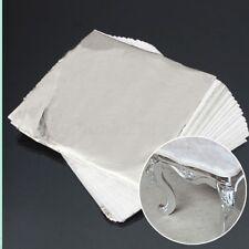 100 Sheets/Pack 14x14cm Imitation Silver Leaf Aluminum Leaf Gilding Craft P