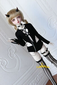 1/4 1/3 BJD Outfit Doll Clothes Sexy Lingerie PUNK Jumpsuit High Fork Tights New