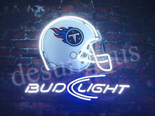 "New Tennessee Titans Bud Light Helmet Beer Neon Sign 24""x20"""