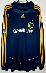 MLS LA Galaxy Adidas 2008 David Beckham Formotion L/S Player Issue Soccer Jersey