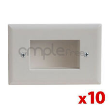 Wall Plate Recessed Mount Low Voltage Cable Lite White Lot of 10 NEW