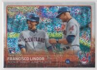 2015 Topps Chrome Update Francisco Lindor Baseball Rookie Card # US286 - INDIANS