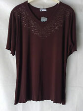NEW WOMENS PLUS SIZES 16-20 SEQUIN GLITTER DETAIL STRETCH TOP T.SHIRT PARTYWEAR