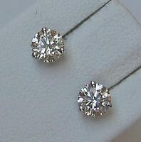 1 Paar Ohrrimge Ohrstecker earrings mit Brillanten 0,70 ct. aus 18 Kt. 750 Gold