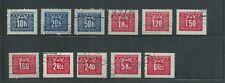 Czechoslovakia Scott # J70-J78, J80-J81 Missing J79 Postage Dues Used/CTO