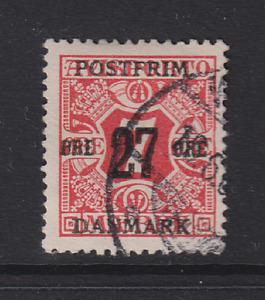 DENMARK  1907: FU 27 on 7 ore rose Wmk 114 Sc #147  · [2647]