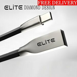 3D Zinc Alloy Type C Diamond USB Fast Charger, Data Cable-Samsung S8, S8 Plus,S9