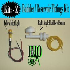 12v, Right Angle Float Switch, Yellow Idiot Light HHO, Bubbler, Reservoir Tank
