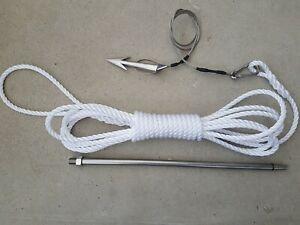 Harpoon fishing stainless steel  dart kit - Gaff-Mann
