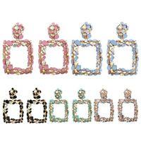 Statement Earrings For Women Large Square Crystal Big Earrings Rhinestone Dr 8O4