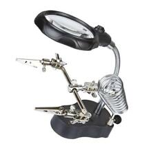 LED Light Stand Helping Hands Magnifying Glass Magnifier Crocod Soldering Iron