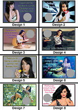 Personalised Katy Perry Scratch Cards - Set of 8 - Fun Party Game, Lucky Door