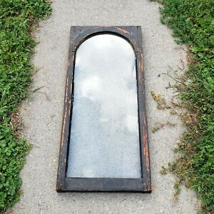 Antique Arched Window Sash w/ Orig Antique Glass Farmhouse Architectural Salvage