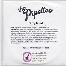 The Pipettes-Dirty Mind Promo cd single