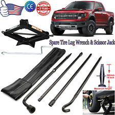 For (04-2014) Ford F-150 Spare Tire Tools Kit Scissor Jack W/-Handle &Lug Wrench