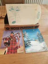 More details for rare fonoscope record greeting postcards 1958 silent night & volare & envelope