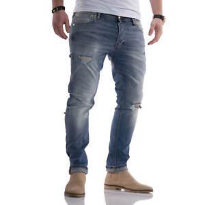 Jack & Jones Herren Jeans Slim Fit Stretch Distressed Denim Casual Herrenhose