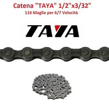 """Catena """"TAYA"""" 6/7 Velocità 116 Maglie Nera per bici 27,5-29 MTB Mountain Bike"""