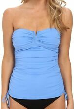 c7467524cf Women's Tommy Bahama Solids V Front Bandini W/ Side Ties Tankini Top Blue  Size S