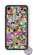 Animated Cartoon Collage Phone Case Cover For iPhone 11Pro Samsung S10 LG Google