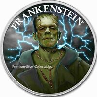 2020 Horror Series Frankenstein! - High Relief Silver 1 Ounce Colorized Series!