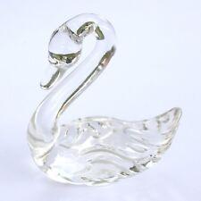 Vintage Fenton Crystal Clear Art Glass Swan Bird Figurine Paperweight LQQK!!!