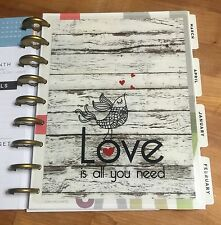 Love Is All You Need Two-Sided Dashboard for use with Happy Planner *Create 365*
