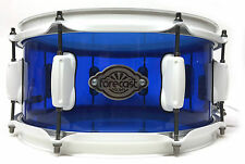 Forecast Drums Custom Cast Acrylic 13x6 Snare Royal Blue Gloss White Hardware