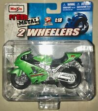 Fresh Metal 2 Wheelers Grn Kawasaki Ninja ZX-12R Die Cast Toy 1:18 #35300 Maisto