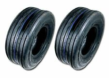 (2) 11x4.00-5 Rib Tires 4 ply Lawn Mower Garden Tractor 11-4.00-5