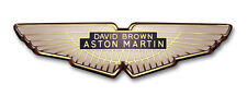 Aston Martin David Brown Wings Badge - Gold - Supplied as a pair