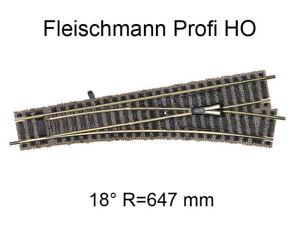 Aiguillage droit à droite - 200 mm - voie Profi HO - FLEISCHMANN 6171