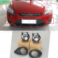 Fit For Ford Focus 212-14 1 Set Fog Light Grille Covers Bezel + Fog Lights  4PCS