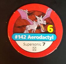 Pokemon Master Trainer #142 Aerodactyl Supersonic Red Pog Playing Chip 1999
