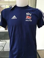 adidas Men's GB Cycling Team Sky Pro Rider Issue Navy T-Shirt Tee S EU 4 36/38""
