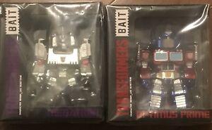 "SDCC BAIT Transformers 6"" Optimus Prime Megatron Exclusive Hasbro Comic Con 2019"