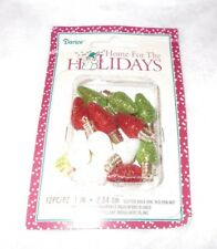NEW Mini 1 inch Glitter Christmas Light Bulb Ornaments Charms 12 Pieces