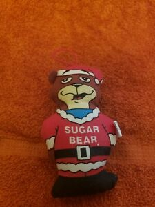 "Vintage-Sugar Bear-3"" Plush-Post-Golden Crisp Cereal Mascot Christmas Santa"