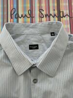 "PAUL SMITH Men's SHIRT 18.5 "" Collar. Beautiful Contrast Signature Striped Cuffs"