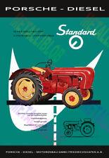 Porsche Diesel Standard Tractor Advertising Poster (A3)