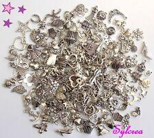 lot mixte 100 breloques par paire coeur étoile coquillage fleur feuille bébé