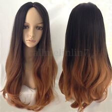 """27"""" Women Long Hair Full Wig Natural Curly Wavy Straight Synthetic Hair Wigs UK"""